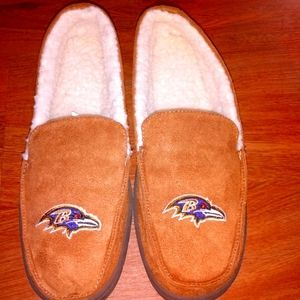 Baltimore Ravens Moccasin Slippers New w out tag